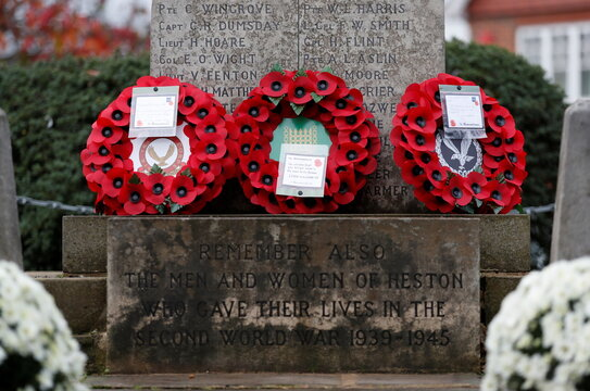 Remembrance Day service at the Heston War Memorial