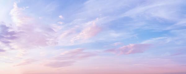 Fototapeta Pastel colored romantic sky panoramic obraz