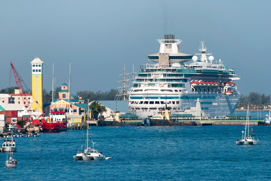 Nassau Harbour Yachts And A Cruise Ship