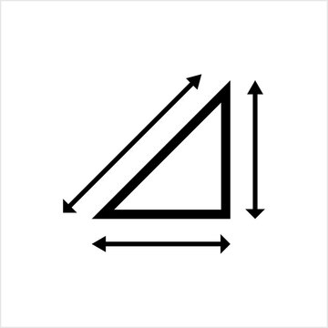Height Weight Icon, Dimension, Area, Size Measurement Icon, Start End Arrow