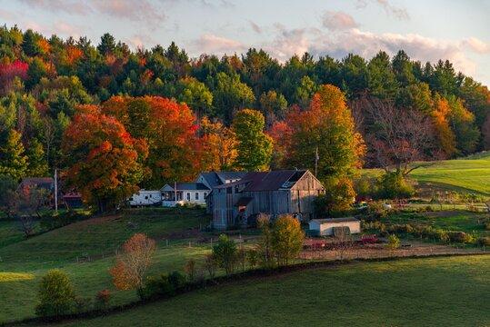 Beautiful Fall colors farm house