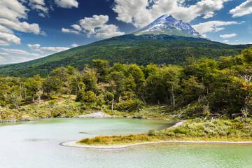 Cerro Guanaco mountain in Tierra del Fuego Peninsula in Argentina