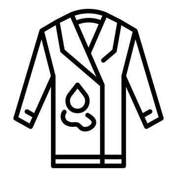 Coat repair icon. Outline coat repair vector icon for web design isolated on white background