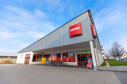 PASSAU / GERMANY - NOVEMBER 8, 2020: Penny branch. Penny is a German discount supermarket chain owned by Rewe Group.