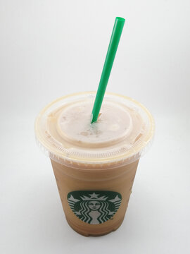 Starbucks iced coffee drink in Manila, Philippines
