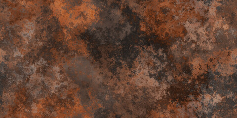 Abstract Corroded Metal Wall Background. Seamless Transition.