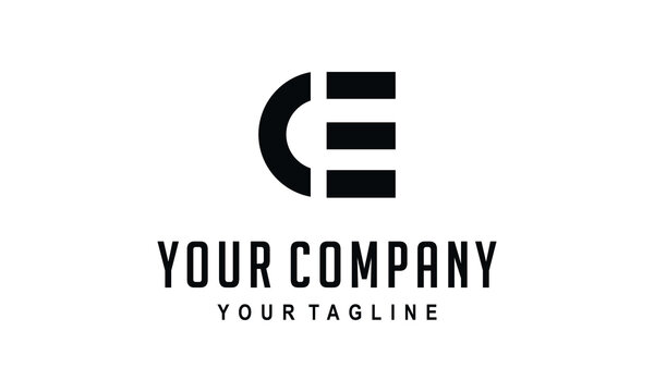 ce initial logo for business