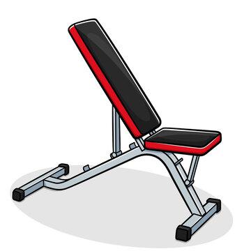 Vector weight bench illustration cartoon