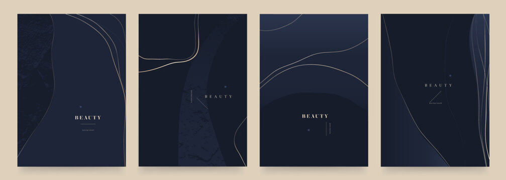Elegant dark blue abstract trendy universal background templates. Minimalist aesthetic.