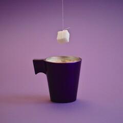 café espresso style pop art coloré photo studio publicitaire publicité petit déjeuner ou travail au bureau qualité du service machine à café