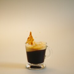 café espresso style pop art coloré photo studio publicitaire publicité petit déjeuner ou...
