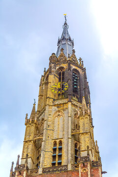 New Church on the Market Square in Delft, the Netherlands