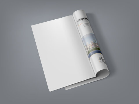 3D Magazine With Clear Page For Your Content