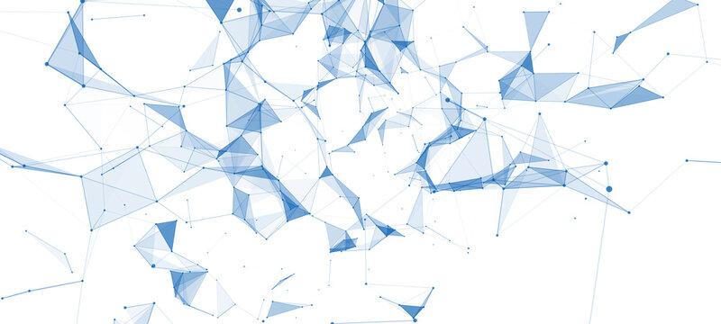 Abstract background with connecting dots and lines. Vector Illustration. Network plexus.