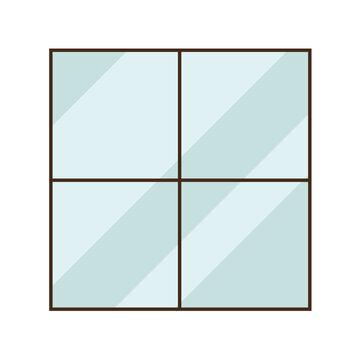Isolated glass window vector design