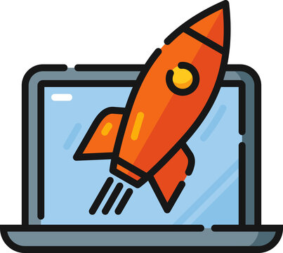 Site Launch Filled Outline Icon