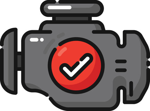 Engine Check Filled Outline Icon