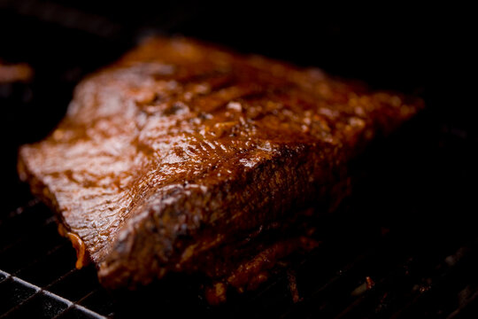 Close up of barbecued brisket