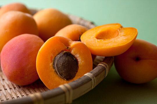 Close up shot of apricots