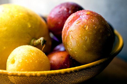 Close up of fruit basket