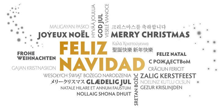 Feliz Navidad, Feliz Navidad, texto en español y traducción a otros idiomas