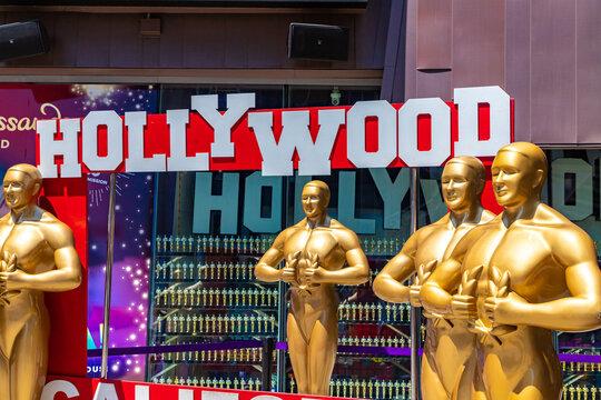Oscar statues in Hollywood