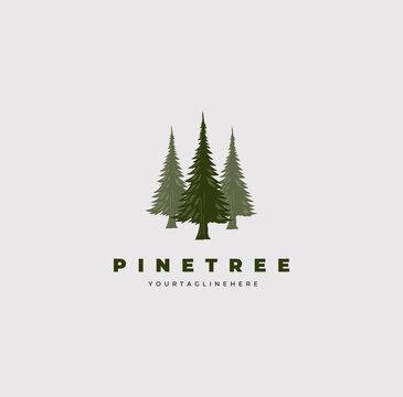 pine tree logo vector illustration design good for company symbol