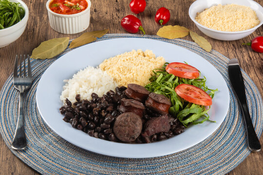 Feijoada. Traditional Brazilian food dish. Brazilian cuisine.