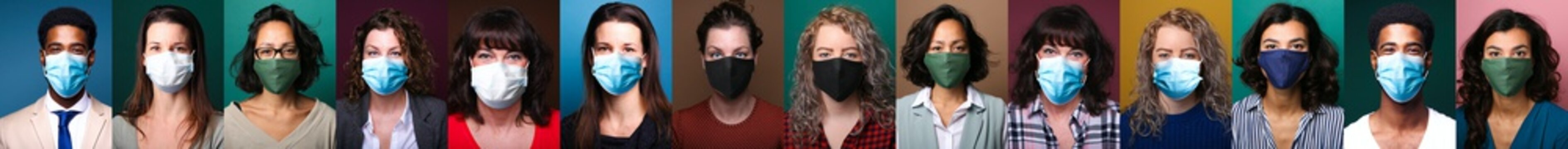 People who wear masks for safety from contamination