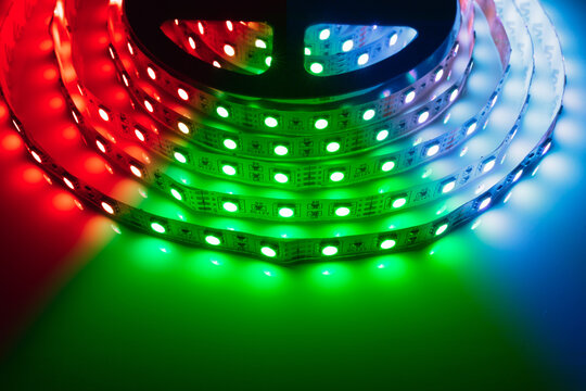 multicolor rgb led light strip roll