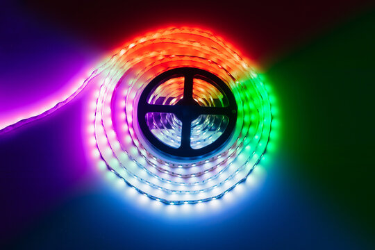 multicolor rgb led light strip roll