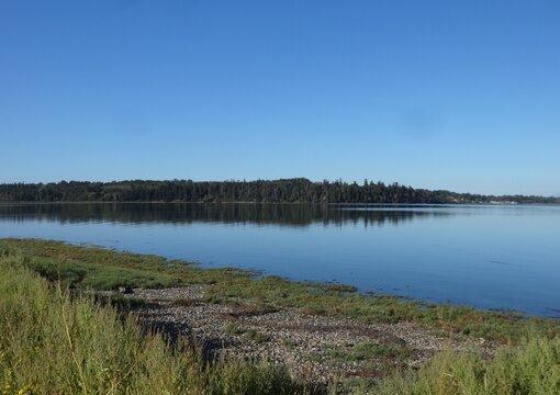Tranquil Lummi Bay in late summer
