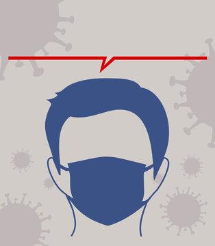 port du masque obligatoire covid 19 coronavirus affiche
