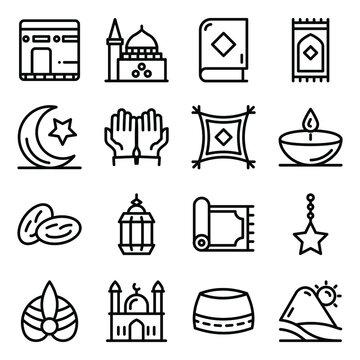 Saudi Arabia Elements in Modern Filled Style Pack