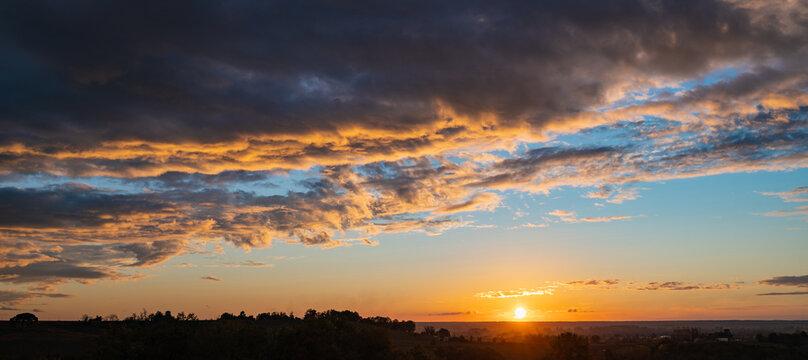 Sky sunset, beautiful sunset, High quality, France