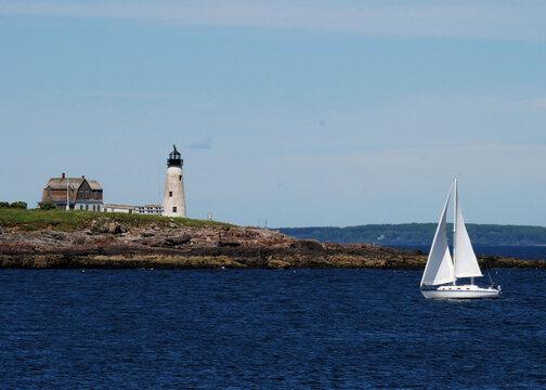 The Wood Island Lighthouse: Wood Island Light is an active lighthouse