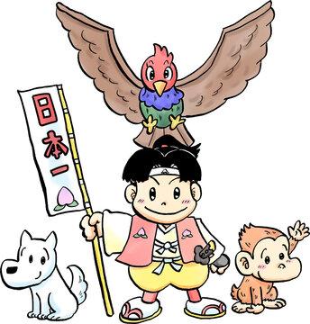 桃太郎と仲間たち