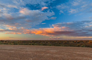 A Sunset scenery in Mungo National Park