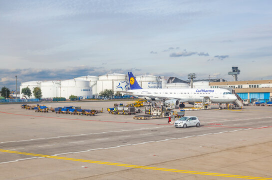 Lufthansa aircraft parking at the apron