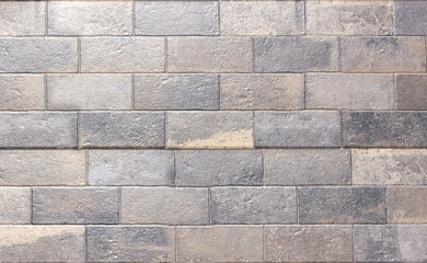 Closeup shot of a brick wall - great for background or wallpaper