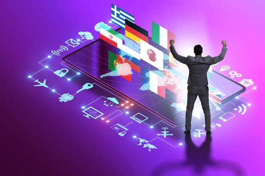 Concept of online foreign language translation and learning