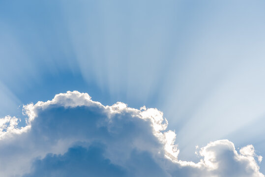 Cloud with sunshine background