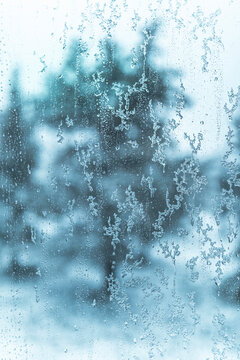 water drops and ice background