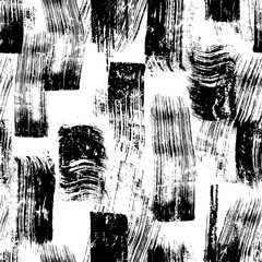 seamless abstract background composition, with paint strokes and splashes, black and white