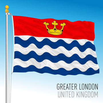 Greater London regional flag, United Kingdom, vector illustration