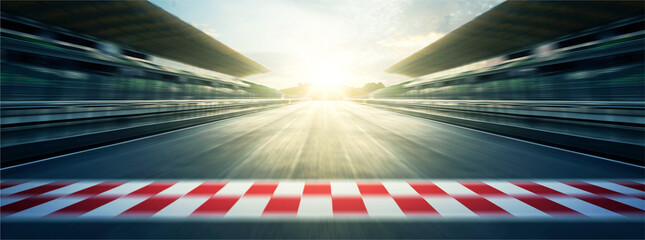 Acrylic Prints F1 Evening circuit motion blur road