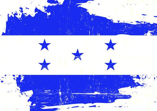Honduras scratched flag. A Honduran grunge flag for you