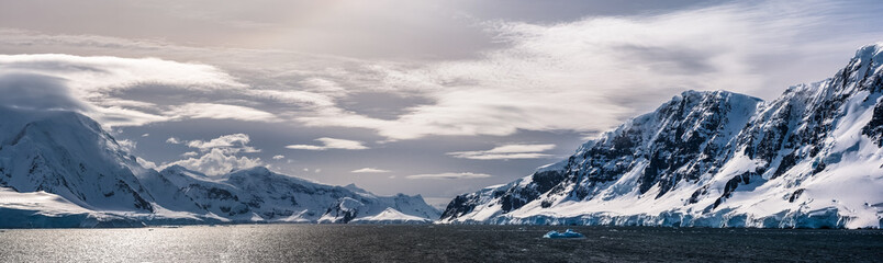 Mountains along the Neumayer Channel, Antarctic Peninsula, Antarctica