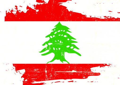 Lebanon scratched flag. A Lebanon grunge flag for you