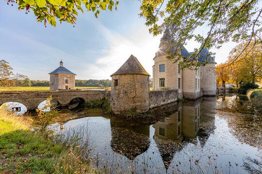 Castle in Loire Valley Countryside - near Langeais - France